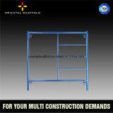 Sistema modular galvanizado del marco del andamio de la INMERSIÓN caliente