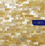 Material de construção natural do mosaico do escudo do quadrado branco da jóia
