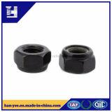 Nylon Insert Lock Nut Black Zinc plaqué