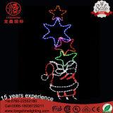 [لد] خارجيّة يشعل [سنتا] كلاوس [مولتيكلور] نجم عيد ميلاد المسيح حبل زخرفة ضوء