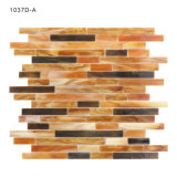 Materiais Eco-Amigáveis ​​Backsplash Brown Mosaic Tile Stained Glass