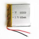 3.7V 600mAh 603030 de Navulbare Batterij van Lipo van het Polymeer van het Lithium voor MP3 MP4 MP5 Van het diy- Stootkussen Dvd e--Boek de Hoofdtelefoon van Bluetooth