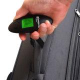 Lampadina verde Digital che pesa la scala d'attaccatura dei bagagli con la cinghia