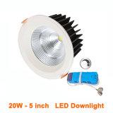 화랑 호텔 로비 가게 140mm 삭감된 구멍을%s 에너지 절약 Dimmable 20W Downlights