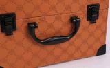 Casella cosmetica di cuoio professionale; Casse a più strati di grande capacità aperte dei monili dell'unità di elaborazione del doppio portatile di trucco