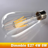 Bulbo Dimmable St64 E27 4W 8W del filamento del LED