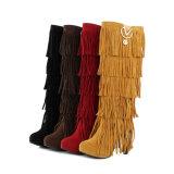 Carregadores materiais do Tassel da camurça colorida à moda de Overknee