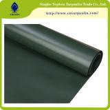 tela incatramata rivestita di colore del vinile nero 100% resistente del PVC 22oz
