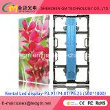 Full Color HD P3 P3.91 P4 P4.81 P5 P6 P6.25 Aluguer Indoor LED Display com Manutenção Frente