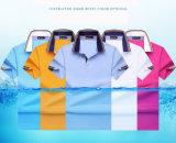 Camisas de polo brillantes modificadas para requisitos particulares manera del color del llano del bulto de los hombres de la alta calidad