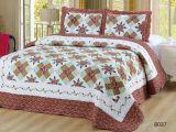 Красивейшей напечатанный заплаткой Quilt листа постельных принадлежностей Quilt 4PCS хлопка
