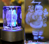 Máquina de gravura de cristal do laser da foto 3D do laser 2016 santamente 2D