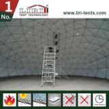 常置使用のためのガラスドアが付いている55mの直径の測地線ドームのテント
