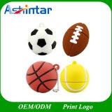 Lecteur flash USB de basket-ball de dessin animé de clé de mémoire USB du football