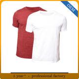 カスタム人の円形の首のブランクの白のTシャツ