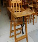 아이들 (M-X3055)와 가진 어린이 식사용 의자를 접히는 단단한 나무
