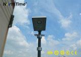 8W PIR 센서를 가진 옥외 재생 가능 에너지 태양 전지판 가로등