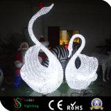 Cisne encendido de acrílico de la decoración de la Navidad de las decoraciones al aire libre de la yarda