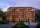 Rappresentazione architettonica di visualizzazione residenziale di progetto della tecnologia perfetta