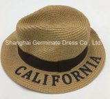 sombrero de la trenza de papel del sombrero 100%Paper con la insignia impresa (Sh025)