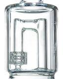Doppelter Stereomatrix-J-Haken Perc rauchendes Wasser-Glasrohr (ES-GB-531)