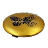 Espelho cosmético Pocket portátil da flor bonita