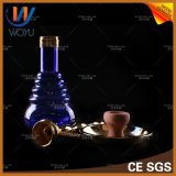 1 gesetztes buntes Waterpipes Glasflaschen-Zink-Legierungs-Material Shisha