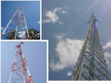20m гальванизировали башню телекоммуникаций триангулярной решетки стальную