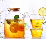 1.8L mettono la bottiglia di acqua in cortocircuito calda della bocca, caldaia di vetro di Borosilicate della caldaia dell'acqua fredda con la maniglia