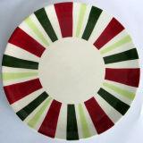 Plateau rond en céramique peint à la main de Christmastableware (GW1268)
