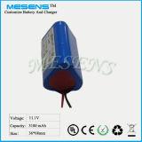 12V 3100mAh Li-Ionbatterie-Satz