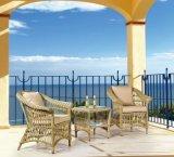 余暇の屋外の枝編み細工品か藤の家具の一定表および椅子