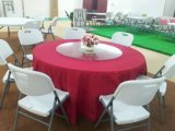 6ft Outdoor Banquet Plastic Folding Round Table From Cina