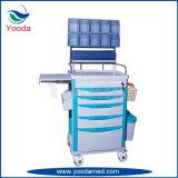 Krankenhaus-und Ausrüstungs-Plastikanästhesie-Laufkatze