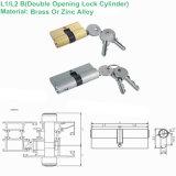Edelstahl-doppelter Öffnungs-Zylinder L1/L2b