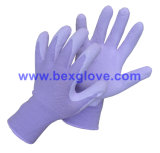 13のゲージのナイロンはさみ金、乳液のコーティング、泡の終わりの手袋