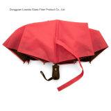 Automatique ouvrir et fermer le parapluie se pliant avec le bâti/côtes de fibre de verre