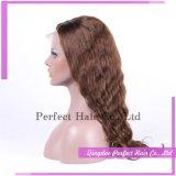排他的で最もよい品質のブラジルの深い波の自然なヘアライン毛のかつら
