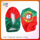 Customeは刺繍したポルトガルの国旗車ミラーのフラグ(HYCM-AF029)を