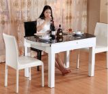 安い現代夕食の椅子、金属フレーム(D001)が付いている革夕食の椅子