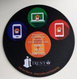 Tapete de rato promocional personalizado em forma redonda