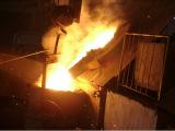 Плавя печь для стальных съемки и песчинки