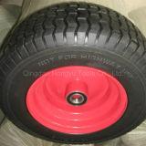 Bunter angestrichener Metallfelgen-Gummirad-Reifen