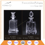 Glasflasche des wodka-500ml mit Glaskorken-Stopper