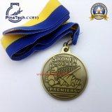 Medaglia corrente di maratona su ordinazione con rivestimento d'argento antico