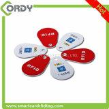 Geschikt om gedrukt te worden de minimarkering NFC van pvc RFID met zelfklevende sticker