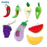 고품질 주문 견면 벨벳 야채 및 과일에 의하여 채워지는 연약한 장난감