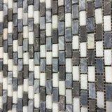 Os chineses tecem a pedra de mármore branca cinzenta e de cristal, mosaico do tijolo