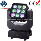 Equipo de luz de la etapa 36X10W LED Cabeza móvil con pantalla táctil de zoom