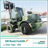 5 4WD Forklift 5 Tons Rough Tonnen des Gelände-Forklift